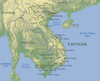 Charming This Map Of Vietnam Showes The Physical Features Of Vietnam. The Capital Of  Vietnam (hanoi) Is Indicated By The Little Red Star Near The Top Of Vietnam  And ...